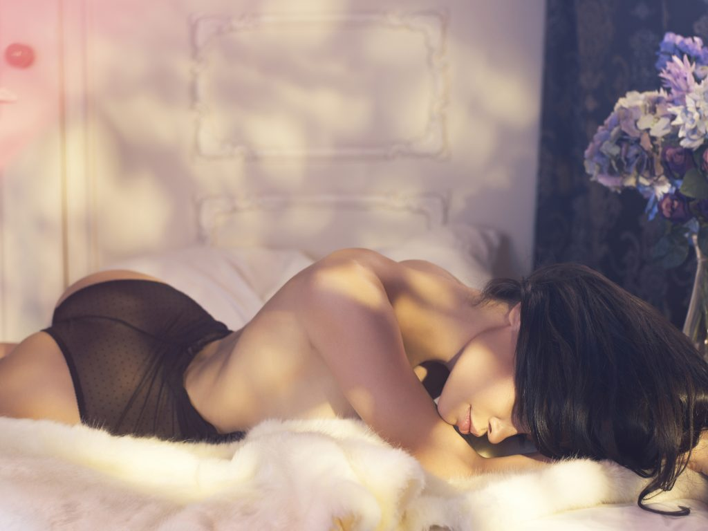 Sugar Baby in Bed with Lingerie